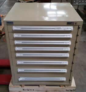 New Stanley Vidmar Industrial Storage Cabinet 8 Drawer 30 X 27 3 4 X 35 1 4