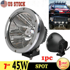 1x 7inch 45w Round Led Work Light Spot Driving Fog Lamp Offroad Tractor Atv 4x4