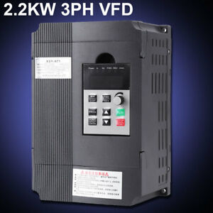220v 2 2kw Single Phase 3ph Variable Frequency Drive Vfd Speed Controller Black