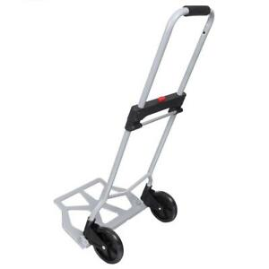 5 5 2 Wheels Foldable 220 Lbs Folding Luggage Cart And Hand Truck Trolley Us