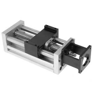 4 In 100mm Manual Sliding Table Sfu1605 Ball Screw Linear Stage Cnc Slide Stroke