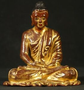 19th Century Antique Wooden Buddha Statue From Burma Antique Buddha Statues