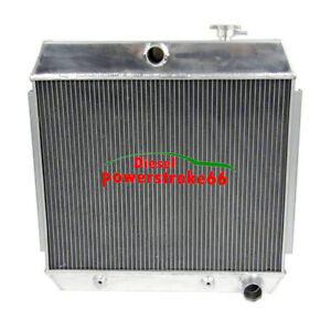 3 Row Aluminum Radiator For 1955 57 Chevy Bel Air 210 150 4 3l 4 6l V8