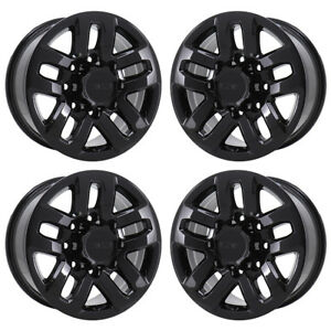 18 Chevrolet Silverado 2500 3500 Truck Black Wheels Rims Factory Oem New 5709