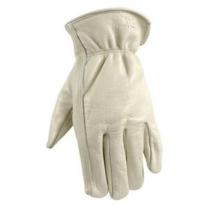 Leather Work Gloves With Reinforced Palm Diy Yardwork Construction Xxx large