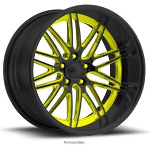 Pro Wheels Formula 18 Polished Aluminum Billet Wheels Rims Intro Forged Us Line