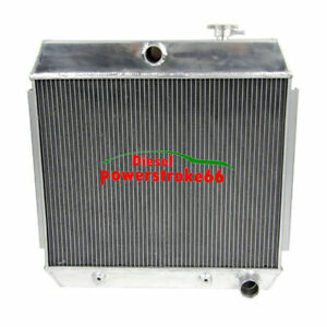 3 Row Aluminum Radiator For 1955 1956 1957 Chevy Bel Air Nomad V8 Only D66