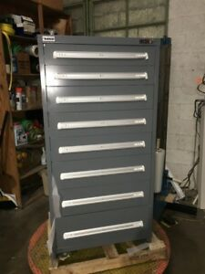 New Stanley Vidmar Industrial Storage Cabinet 8 Drawer 30 X 28 X 59