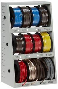 43111 12 spool Automotive Wire Assortment With Steel Rack d132