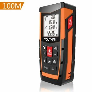 Laser Measure 328ft Digital Laser Distance Meter With Electronic Level Dual
