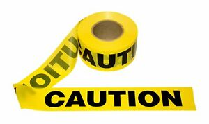 Cordova Safety Products T15101 Pro Pack Caution Tape 12 Pack 3 1000 Yellow