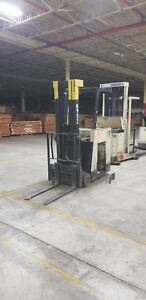 Crown 36v Electric Cushion Tire Forklift Mdl 35rctt s 3500lb Capacity