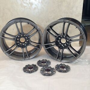 2 Kosei Via Wheels Rims For 205 50r17 Tires 4 Center Caps No Tires