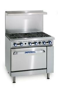 Imperial Range Ir 6 c 36 Commercial Gas 6 Burner Range W 26 5 Convection Oven