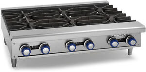 Imperial Range Ihpa 6 36 36 Commercial Gas Hot Plate Counter Top 6 Burner Nsf