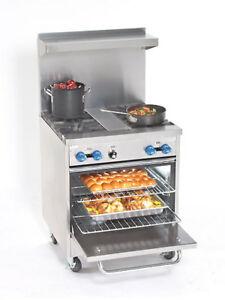 Comstock Castle 30 Commercial 2 Burner Gas Range 18 Radiant Broiler Oven