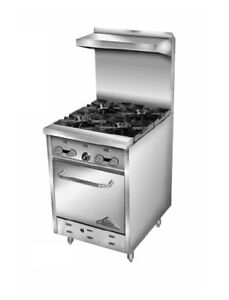Comstock Castle 24 Commercial Gas Range 2 Burners W Std Oven 12 Griddle