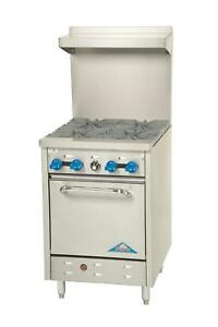 Comstock Castle F318 24 Commercial Gas Range 4 Burners Std Oven