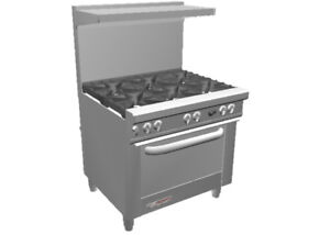 Southbend S36a 36 S series Range W 6 Non clog Burners Convection Oven
