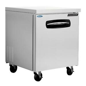 Nor lake Nluf27a 27 5in Stainless Steel Reach In Undercounter Freezer