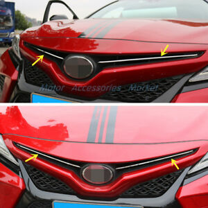 New Stainless Steel Chrome Front Grill Trim For Toyota Camry 2018 2019 2020