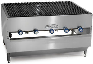 Imperial Range 48x36 Stainless Commercial Gas Chicken Broiler W 5 Burners
