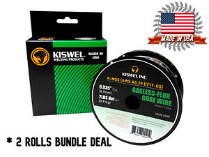 Made In Usa 2 Rolls K ngs E71t gs 035 In Dia 2lb Gasless flux Core Wire