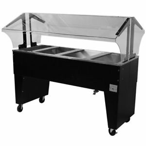 Advance Tabco Portable Cold Food Buffet Table W 8 Deep Well Open Base