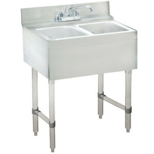 Advance Tabco Crb 22c 24 x21 x33 2 comp S s Underbar Hand Sink W Faucet Nsf