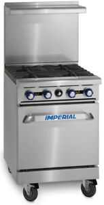 Imperial Range 24in Gas Restaurant Range 2 Burner W 12in Griddle