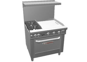 Southbend 4361a 2g Ultimate 36 Range W 2 Burners Conv Oven 24 Griddle