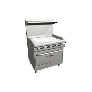 Southbend H436d 3g 36 Ultimate Range Gas electric With Manual Controls Griddle