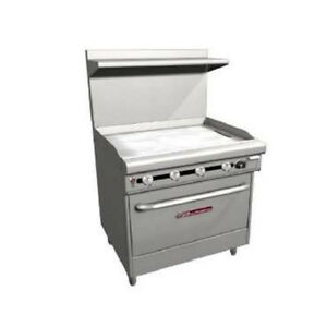Southbend H436a 3g 36 Ultimate Gas electric Range With Griddle 3 Racks
