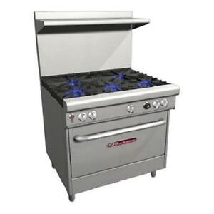 Southbend H4366d 36 Ultimate Gas electric Range 3 Burners 1 Rack