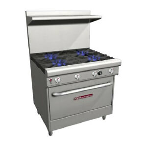 Southbend H4367d 36 Ultimate Gas electric Range 4 Burners 1 Rack