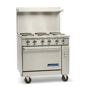 Imperial Range Ir 6 e 36 Electric 6 Burner Restaurant Range With Standard Oven