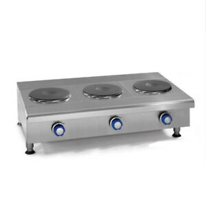 Imperial Range Ihpa 3 36 e 36 Countertop Electric Hotplate With 3 2kw Burners