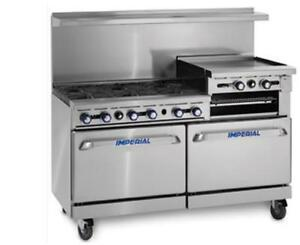 Imperial Range 60 4 Burner Range With 36 Griddle Dual Convection Ovens