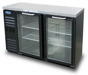 Nor lake Nlbb60ng 15 6 Cu Ft Refrigerated Back Bar Cabinet With 2 Glass Doors
