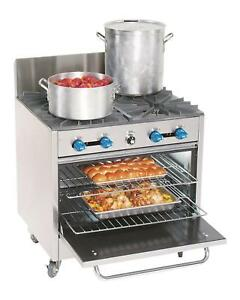 Comstock Castle Fk430 4 Burner Gas Stock Pot Commercial Range W 31 5 Oven