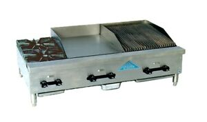 Comstock Castle Fhp48 18 1 5rb 2 Burner 18 Broiler 18 Griddle Combo