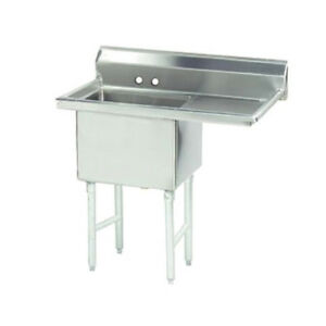Advance Tabco 1 Compartment Sink S s 16 x20 x14 Bowl 18 Right Drainboard