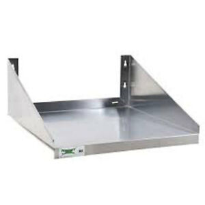 Advance Tabco Ms 18 24 ec x 24 X 18 Stainless Microwave Shelf Wall Mounted