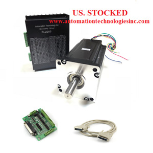 Us Ship Nema 42 Stepper Motor 4230oz in 8 0a Stepper Driver Kl2283 8 3a Cnc Kit