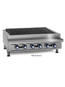 Imperial Range Irb 48 48 Commercial Gas Radiant Char Broiler Grill Counter Top