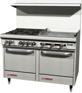Southbend S48ee 2t 48 S series Range W Space Saver Ovens 24 Therm Griddle