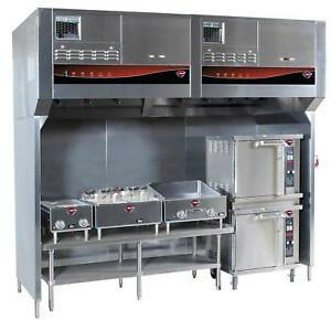 Wells Wvu 96 96 Cook Zone Universal Ventless Exhaust Hood System