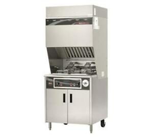 Wells Wvf 886 15 Lb Electric Ventless Dual Open Fryer Stainless Steel