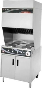 Wells Wv 4hf Ventless Range W Cabinet Base 4 French Style Hot Plates