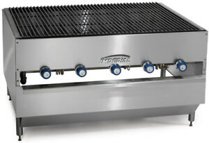 Imperial Range 60x36 Stainless Commercial Gas Chicken Broiler W 6 Burners